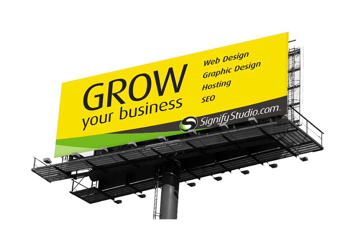 outdoor advertising billboard graphic design