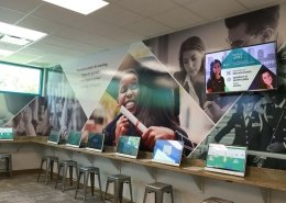 junior achievement design wall wrap nonprofit tampa